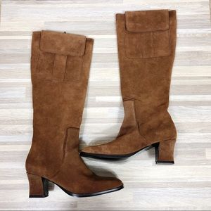 NWOT Newportnews | 7 Chestnut Brown Leather Boots